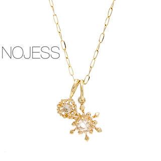 NOJESS - 【NOJESS】K10YGスライドボールネックレス& ダイヤチャームセット