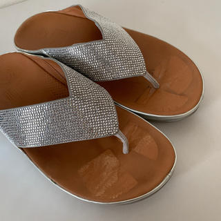 fitflop - fitflop us6 23 23.5 24センチ シルバー ストーン