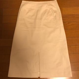 デミルクスビームス(Demi-Luxe BEAMS)のBEAMSフロントスリットAラインスカート(ひざ丈スカート)