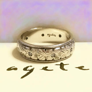 アガット(agete)のagete ♡ pt200 ダイヤ リング(リング(指輪))