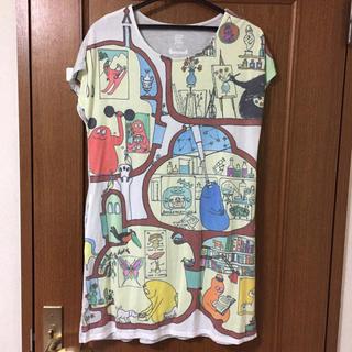 Design Tshirts Store graniph - グラニフ ワンピ Tシャツ バーバパパ