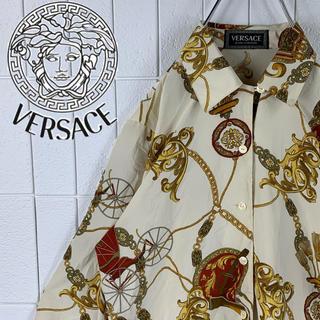 ヴェルサーチ(VERSACE)のヴェルサーチ レアカラー ゆるだぼ 90s 正規品 鎖柄 オープンカラーシャツ(シャツ)