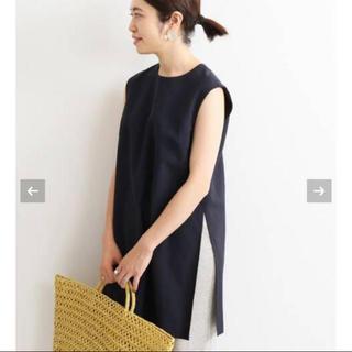 IENA - 今期完売【新品タグ付】IENA スリットプルオーバー ネイビー