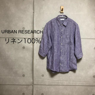 アーバンリサーチ(URBAN RESEARCH)のURBAN RESEARCH リネン100% シャツ(シャツ/ブラウス(長袖/七分))