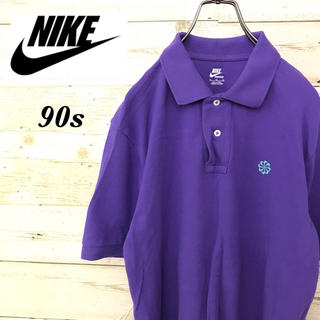 NIKE - 【激レア】90sナイキNIKE☆風車刺繍ロゴ入り半袖ゆるダボビッグポロシャツ