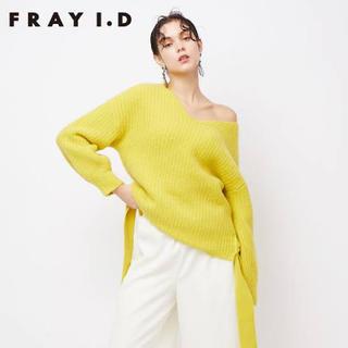 FRAY I.D - ファーライクVネックニット frayid