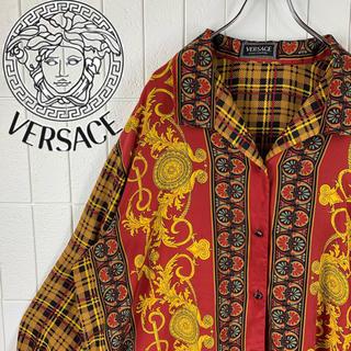 VERSACE - ヴェルサーチ 超ビッグシルエット ゆるだぼ 90s 正規品 オープンカラーシャツ