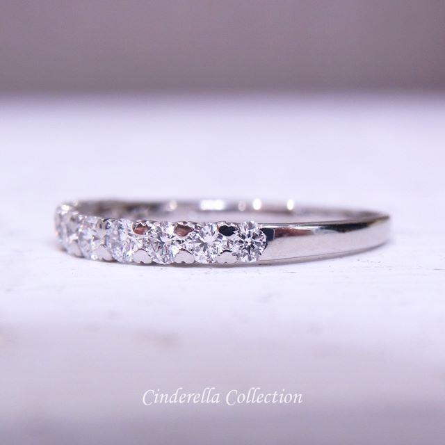 shora様専用❤️PT950ダイヤ★ハートのお爪のH&Cエタニティリング0.5 レディースのアクセサリー(リング(指輪))の商品写真