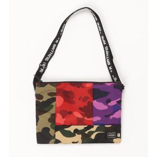 A BATHING APE - PORTER MIX CAMO SACOCHE