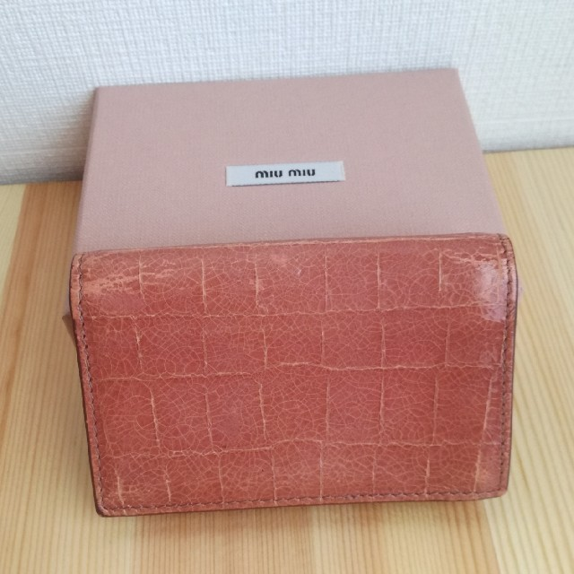 miumiu(ミュウミュウ)のmiia様専用♡miumiuカードケース/名刺入れ レディースのファッション小物(名刺入れ/定期入れ)の商品写真