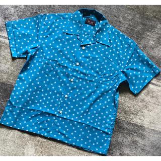 サブサエティ(Subciety)のデザイン性抜群 Double Needle スター柄 総柄 オープンカラーシャツ(シャツ)