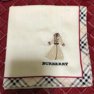 BURBERRY - バーバリーハンカチ 刺繍 コート柄 希少💖