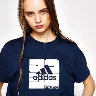 マウジー(moussy)のmoussy adidas コラボT(Tシャツ(半袖/袖なし))