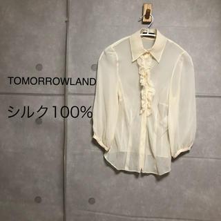 トゥモローランド(TOMORROWLAND)のTOMORROWLAND シルク100% 七分袖 シャツ(シャツ/ブラウス(長袖/七分))
