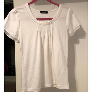 カットソー トップス Tシャツ オフホワイト Sサイズ(Tシャツ/カットソー(半袖/袖なし))