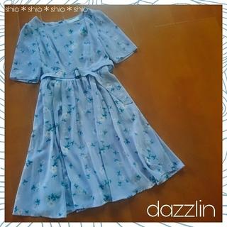 dazzlin - 《dazzlin》花柄 フラワー ベルト付き ワンピース S
