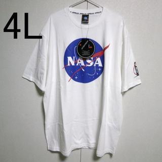 NASA 新品 4L 宇宙 APOLLO  アポロ 白 コットン100