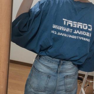 used back print tee