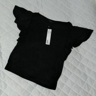 ヘザー(heather)の【新品】ヘザー デザインベーシックT ブラック(カットソー(半袖/袖なし))