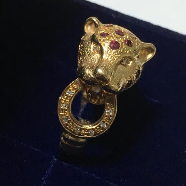 パンサー ルビー k18  リング レディースのアクセサリー(リング(指輪))の商品写真