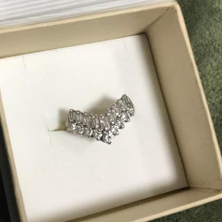 1日のみ出品 V字リング ダイヤモンド1.00ct 指輪 プラチナリング