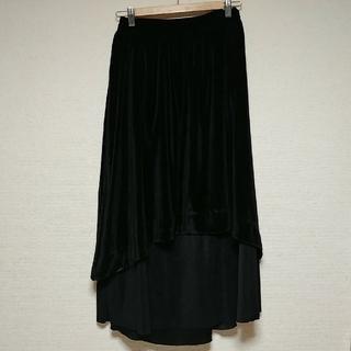 メルロー(merlot)のベロア異素材ロングスカート(ロングスカート)