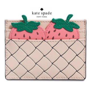 kate spade new york - 【新品】ケイトスペード ピクニックパーフェクト いちご カードホルダー