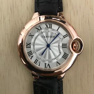 Cartier - レディース 腕時計 Cartier バロンブルー 38mm 黒ベルト