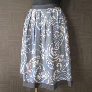 トゥービーシック(TO BE CHIC)のTO BE CHIC スカート 46 三陽商会 極美品 大きいサイズ(ひざ丈スカート)