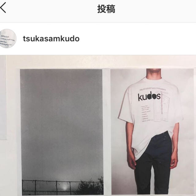kudos tシャツ メンズのトップス(Tシャツ/カットソー(半袖/袖なし))の商品写真