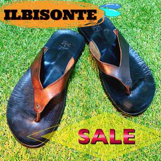 イルビゾンテ(IL BISONTE)のILBISONTE イルビゾンテ 黒 ブラック 夏 美品 オススメ SALE(サンダル)