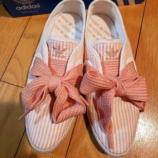 アディダス(adidas)の美品♡レア アディダス 希少 リレースロー リボン スニーカー ストライプ(スニーカー)