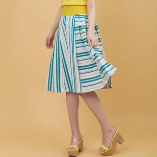 トランテアンソンドゥモード(31 Sons de mode)のマルチストライプフレアスカート(ひざ丈スカート)