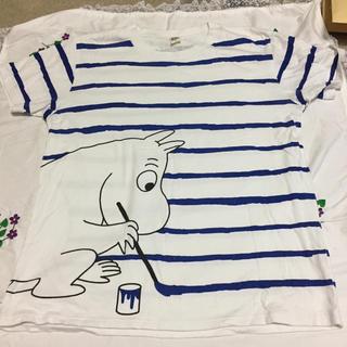 Design Tshirts Store graniph - グラニフ ムーミン Tシャツ ボーダー ブルー M