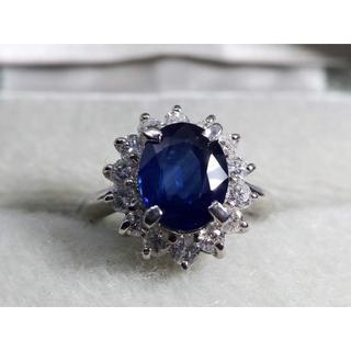 Pt900 サファイア2.00ctダイヤ0.57ctデザインリング 指輪 (リング(指輪))