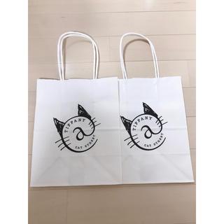 ティファニー(Tiffany & Co.)のティファニーキャットストリートカフェ♡ショッパー(ショップ袋)