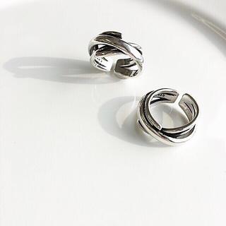 アメリヴィンテージ(Ameri VINTAGE)のnew ♡wide cross ring・silver925(リング(指輪))