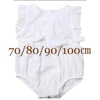 babyGAP - ロンパース (白)70/80/90/100㎝