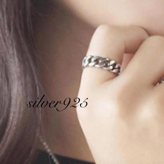アメリヴィンテージ(Ameri VINTAGE)のsilver925 ヴィンテージ 鎖 チェーンリング❤︎(リング(指輪))