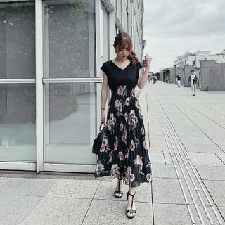 rienda - 新品 rienda 今期新作 flowerシャーリングロングOP ワンピース