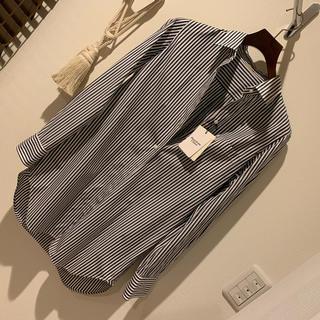 DEUXIEME CLASSE - ワイシャツ ストライプ 紺白