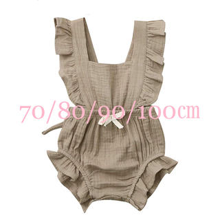 babyGAP - ロンパース (ブラウン)70/80/90/100㎝