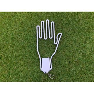 ゴルフグローブの型崩れ防止ハンガー【ホワイト】