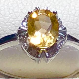 天然石シトリンパワーストーン5🅰️ランクシトリンリング🤩💕(リング(指輪))