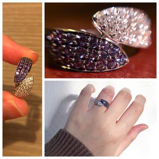 破格!極上アレキサンドライトと極上ダイヤモンドの競演K18WGリング(リング(指輪))