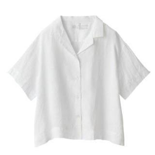 MUJI (無印良品) - 新品   無印良品  オーガニックリネン洗いざらし半袖開襟シャツ