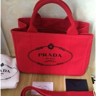 PRADA - プラダ カナパ 赤