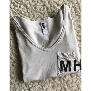 マーガレットハウエル(MARGARET HOWELL)の最終価格 MHL ロゴTシャツ マーガレットハウエル Vネック  アニエス・ベー(Tシャツ(半袖/袖なし))