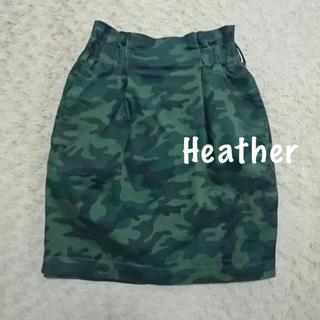ヘザー(heather)のHeather  迷彩  ハイウエスト  コクーンスカート タイトスカート(ミニスカート)