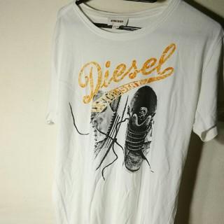 DIESEL - ディーゼルのハーフスリーブ、ルーズクルーネックTシャツ